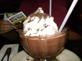 Frozen hot chocolate at Serendipity