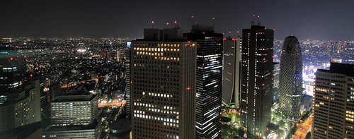 Night view of Shinjuku Japan