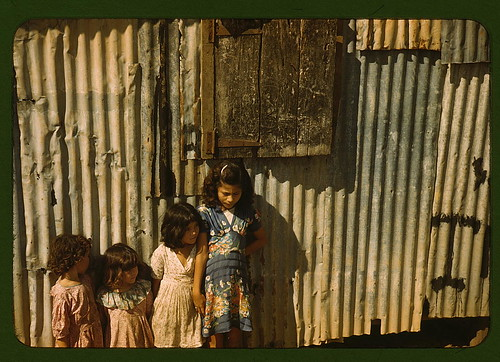 Children in a company housing settlement, Puerto Rico (LOC)