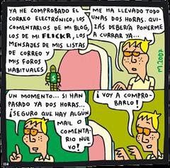Tira cómica sobre la infoxicación de Mauro Entrialgo.