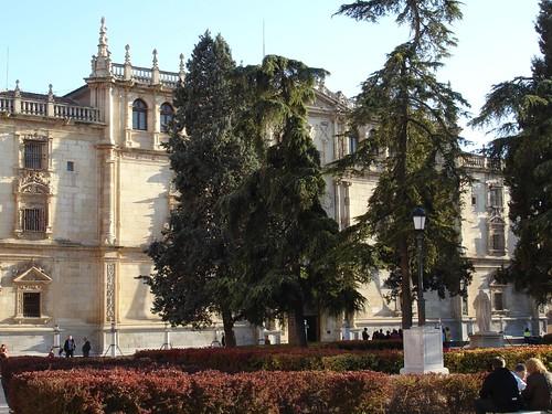Fachada de la universidad de Alcalá en la actualidad