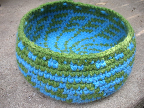 Green Grass Blue Sky Basket by you.