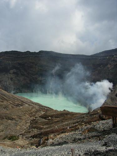 火山口的景象