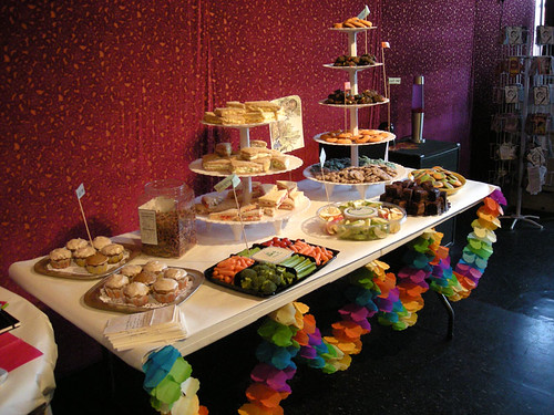 Mad Hatter's Food Table (baby shower)