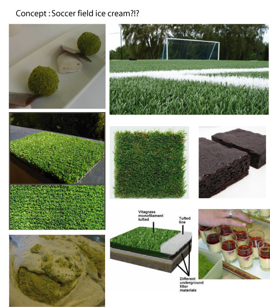 Soccer field concept