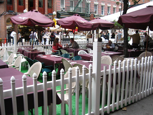 Sidewalk cafe where we had dinner in Little Italy.