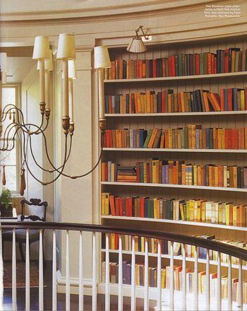 hallway bookshelf