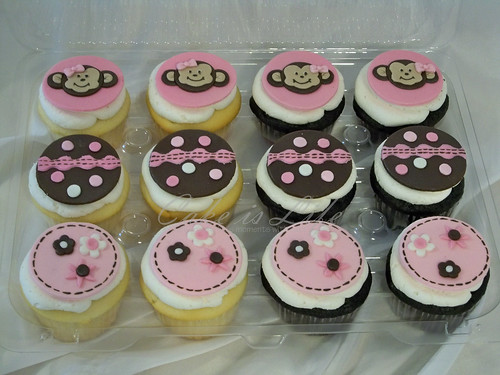 Monkey Baby Shower Cupcakes