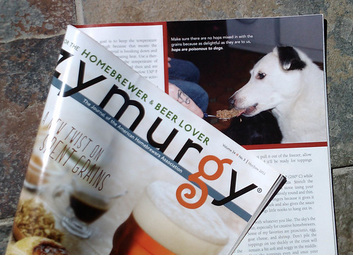Our dog in Zymurgy Magazine