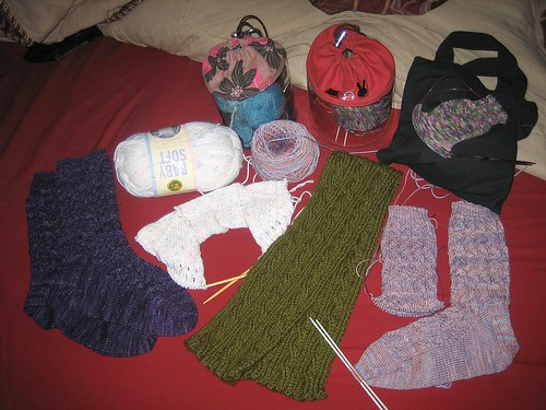 all my knitting atm