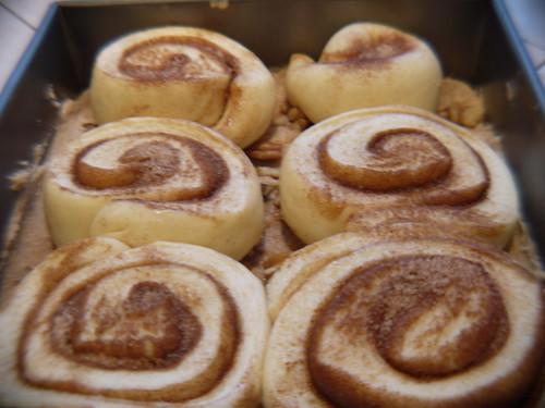 Sticky buns - After second rise