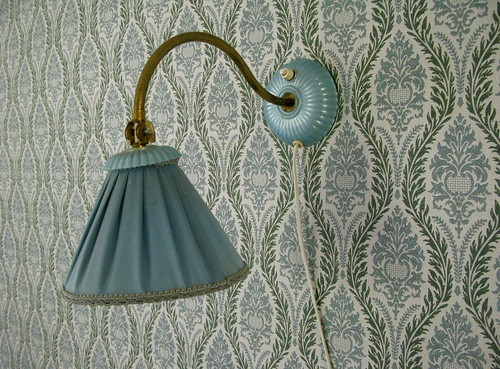 Lamp and wallpaper