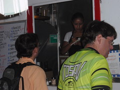 Ordering at Don Pedros Taco Truck....about 11:00 pm