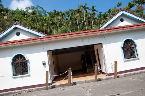 Slanting house