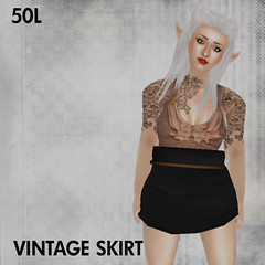 This Is A Fawn - Vintage Skirt - Click picture for larger view