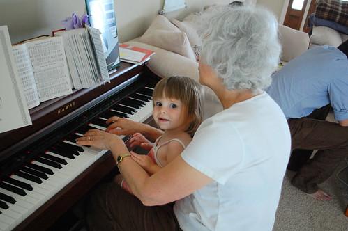 Piano with grandma.