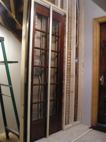 Pocket door installed