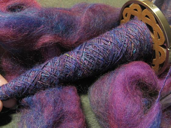 Corriedale on Golding spindle