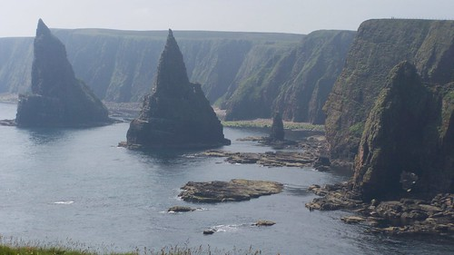 Dramatic view of the stacks Duncansby Head