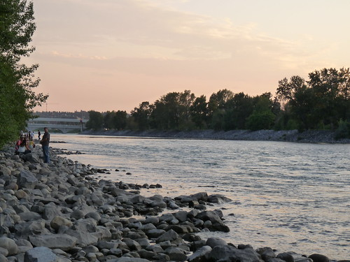 Bow River at Dusk