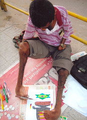 Handicapped Painter - Bangalore - india - naje...
