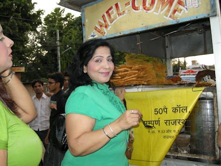 Mom having pani puri