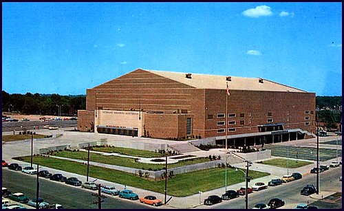From 1955 to 2005, Vets Auditorium was the home of the Iowa High School state tournaments.