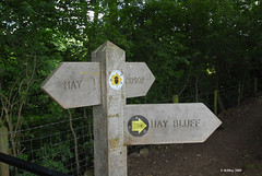 Signpost to Hay-on-Wye