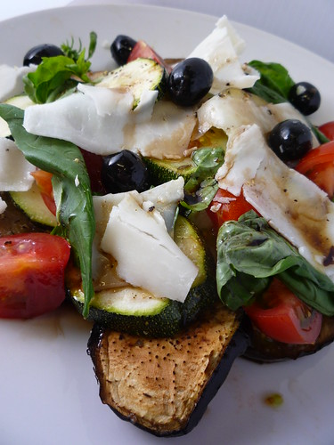 Roasted Aubergine, Courgettes, Tomatoes Olives Goats Cheese & Olive by you.