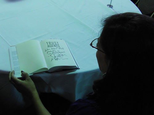 Signed copy of Trust Agents by Chris Brogan and Julien Smith