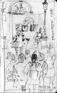 piran, tartinijev trg, street theatre, slovenia