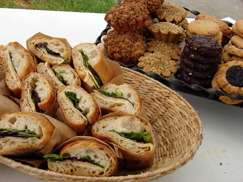 sandwiches, pastries