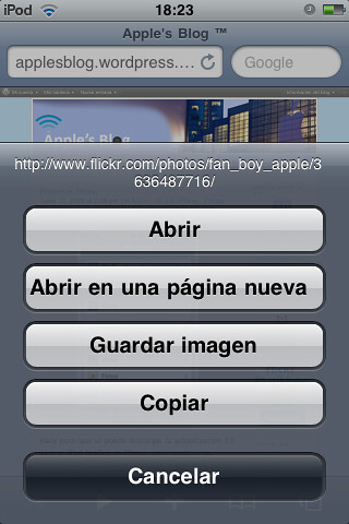 Safari Mobile on OS 3.0 por ti.