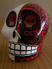 Red & White Calavera II