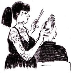 the hairdresser