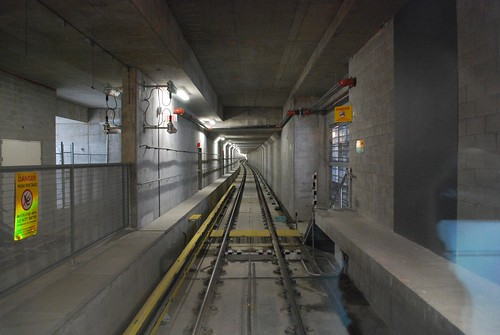 Looking south down the tunnel