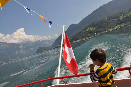 Ned on the ferry, Walensee by you.