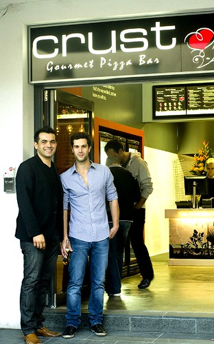 Costa Anastasiadis at Crust Gourmet Pizza Bar Opening night by you.