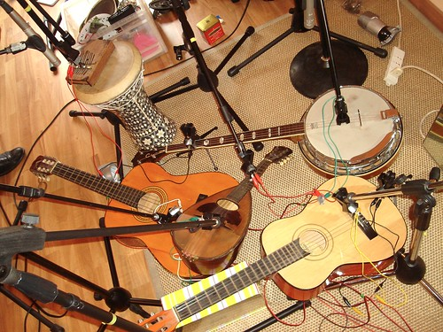 Recording an audio physical setup