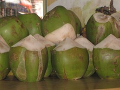 Fresh coconut drinks