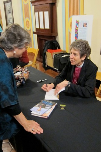 Bishop Katharine Jefferts Schori and Katy Dickinson