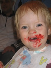 Mouth full of Chocolate cake!
