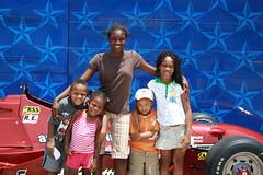 the kids @ Texas Motor Speedway