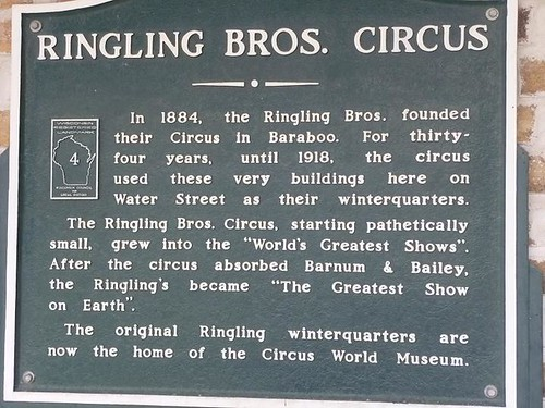 WI, Baraboo - Circus World Museum 133 - Greatest Show on Earth plaque