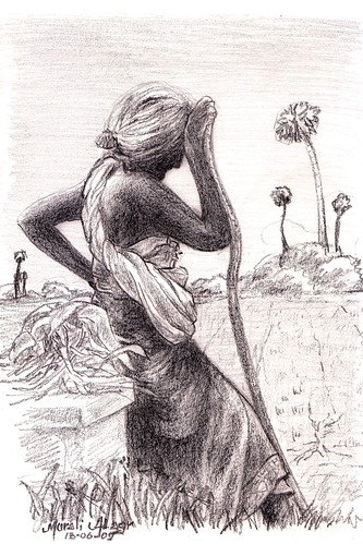 Image result for sketches of artist maniam selvan old lady