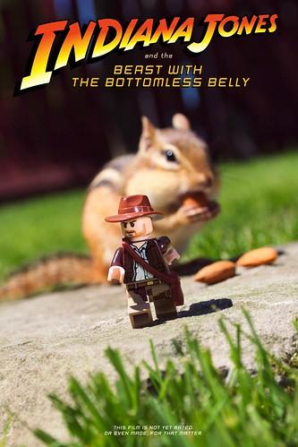LEGO Indiana Jones and chipmunk