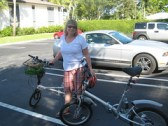 With my folding bikes