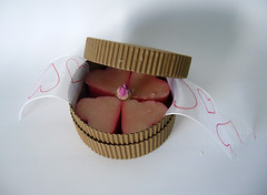 Four hearts in an ecologic box