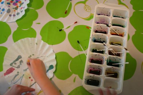 Liquid Watercolors on Coffee Filters