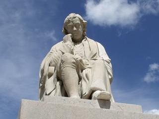 statue of Dr Samuel Johnson in Lichfield Marke...